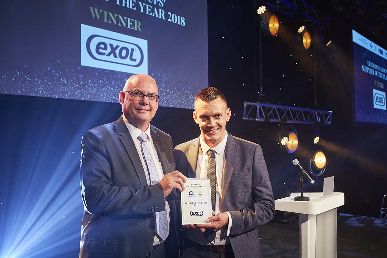 Exol Lubricants named AAUK 'Supplier of the Year'